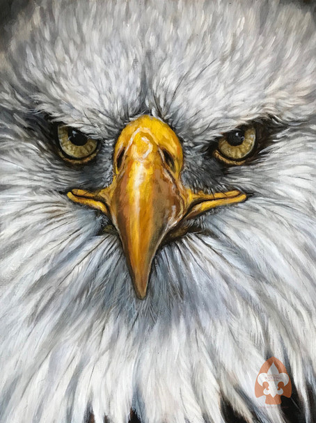 Eagle on Large Canvas