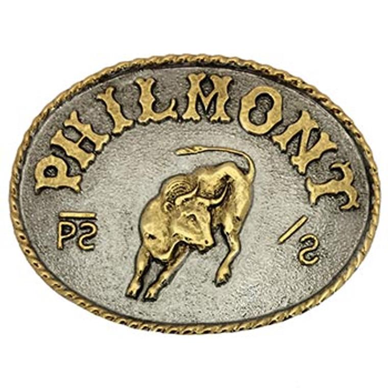 Philmont Bull Buckle - 2-Tone