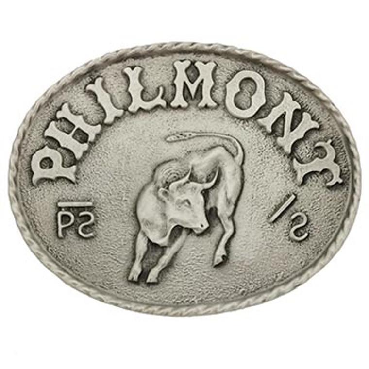 Philmont Bull Buckle - Pewter