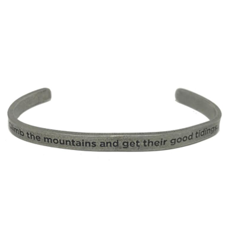 Climb the Mountains Cuff Bracelet