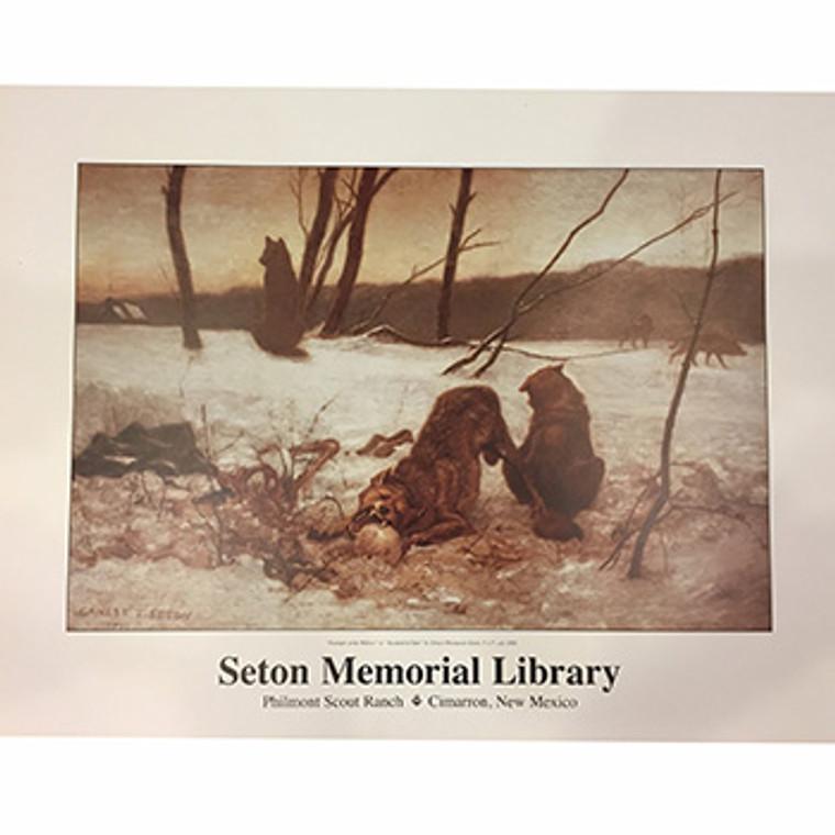 Ernest Thompson Seton Triumph of the Wolves Poster