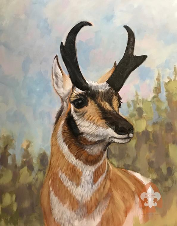 Antelope print on canvas
