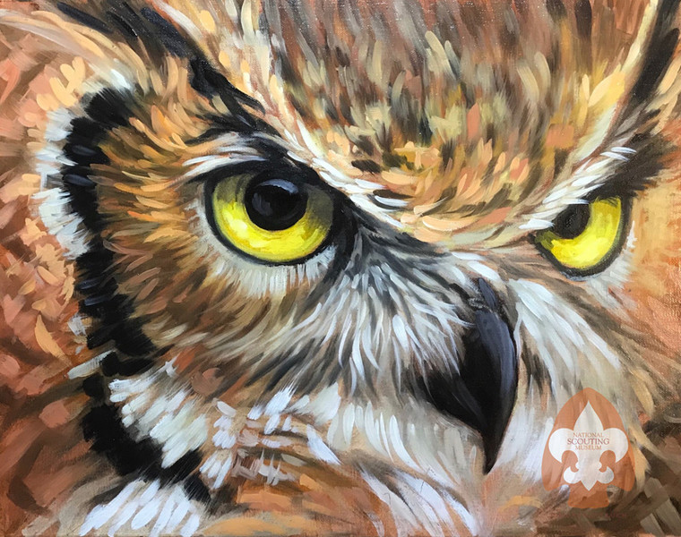 Owl on Large Canvas