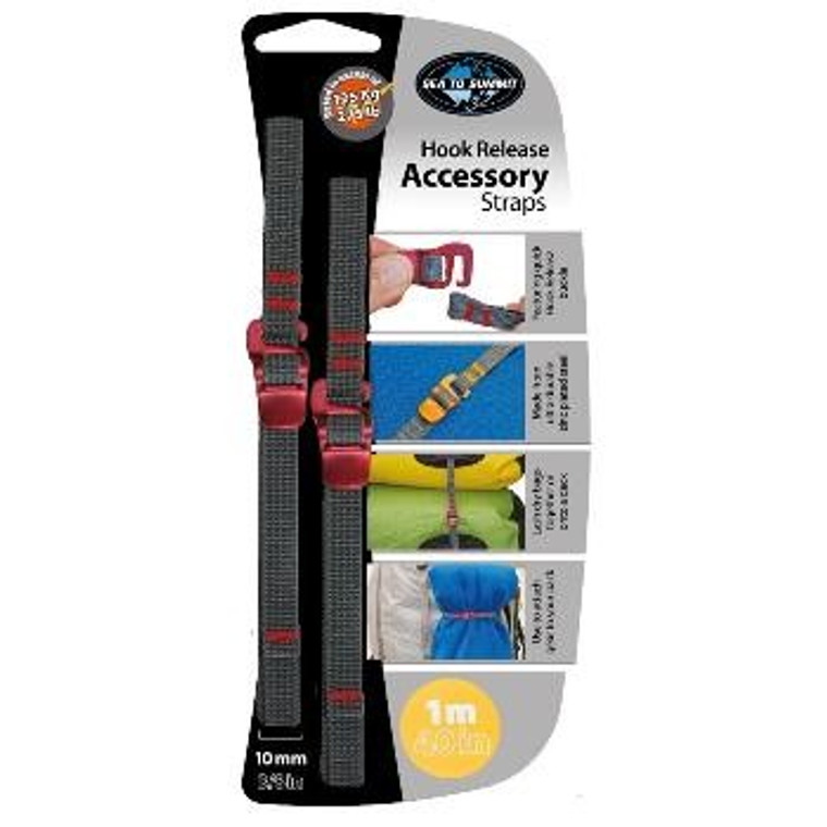 """Sea to Summit 3/8"""" Accessory Straps with Hook"""