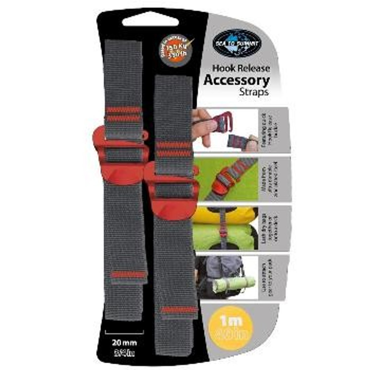 """Sea to Summit 3/4"""" Accessory Straps with Hook"""