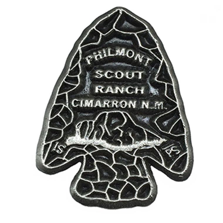Philmont Nickle Arrowhead Hat Pin