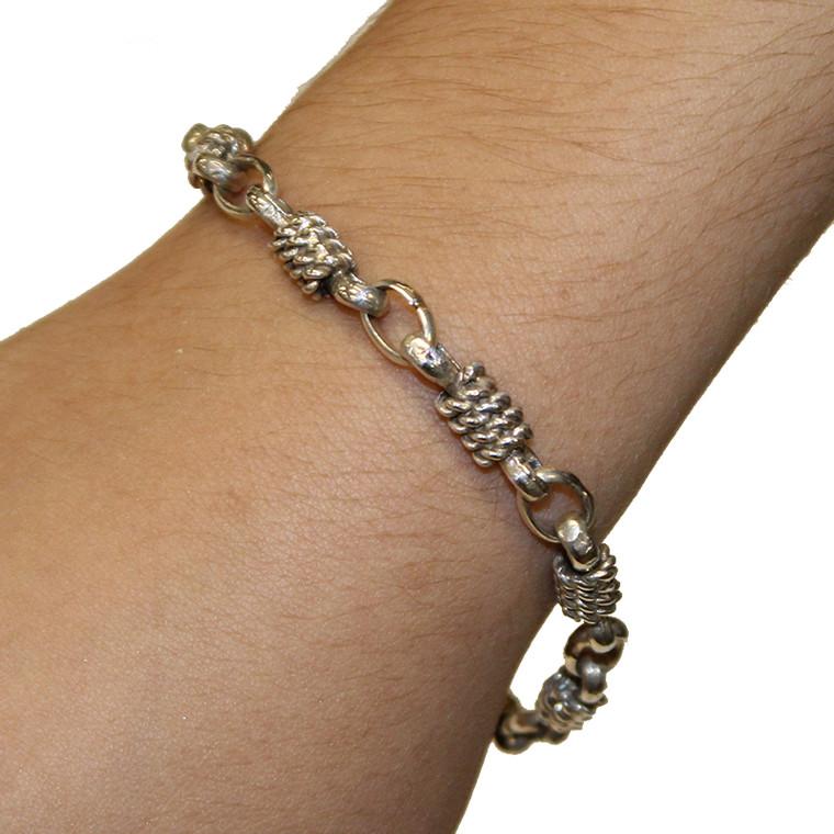 Sterling Rope link bracelet