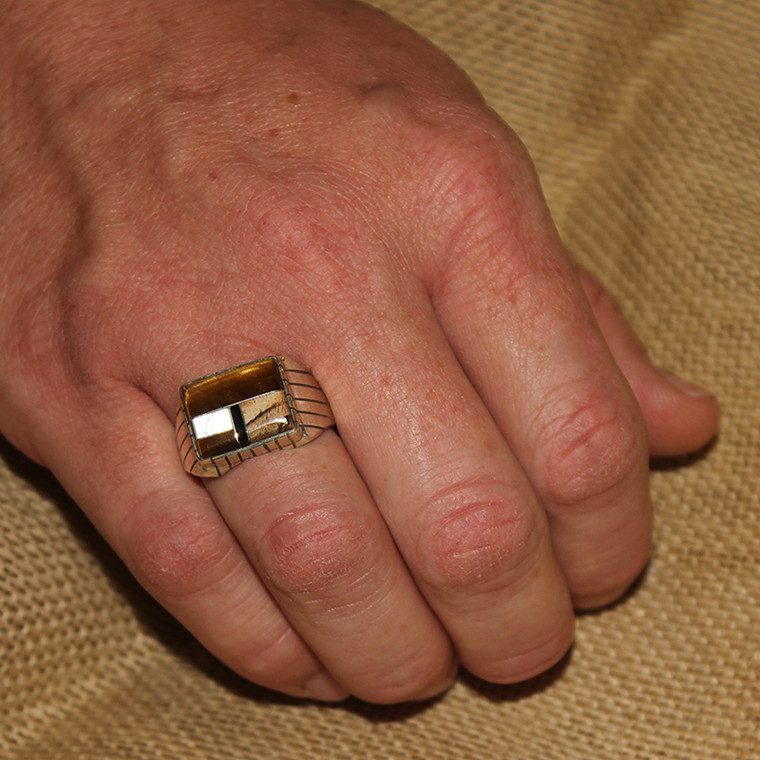 Inlay Tiger Eye Ring