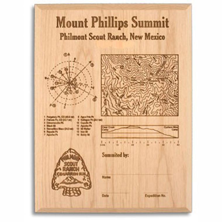 Mt. Phillips Laser Engraved Plaque
