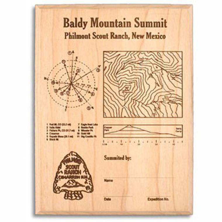 Baldy Mountain Laser Engraved Plaque