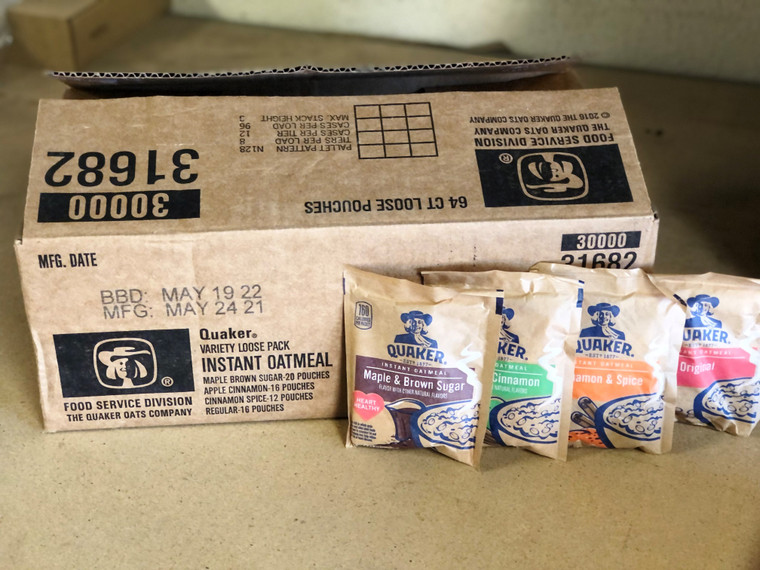 Surplus 64 pack- Instant Oatmeal Variety Pack