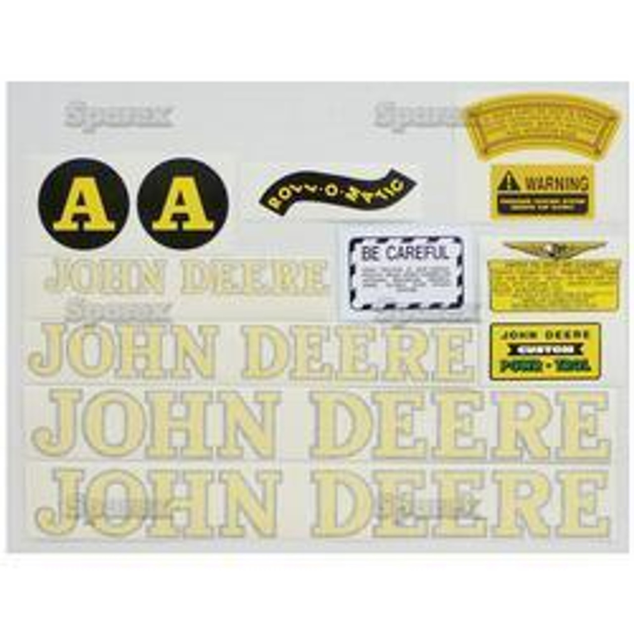 New JD A (Black) Decal Set