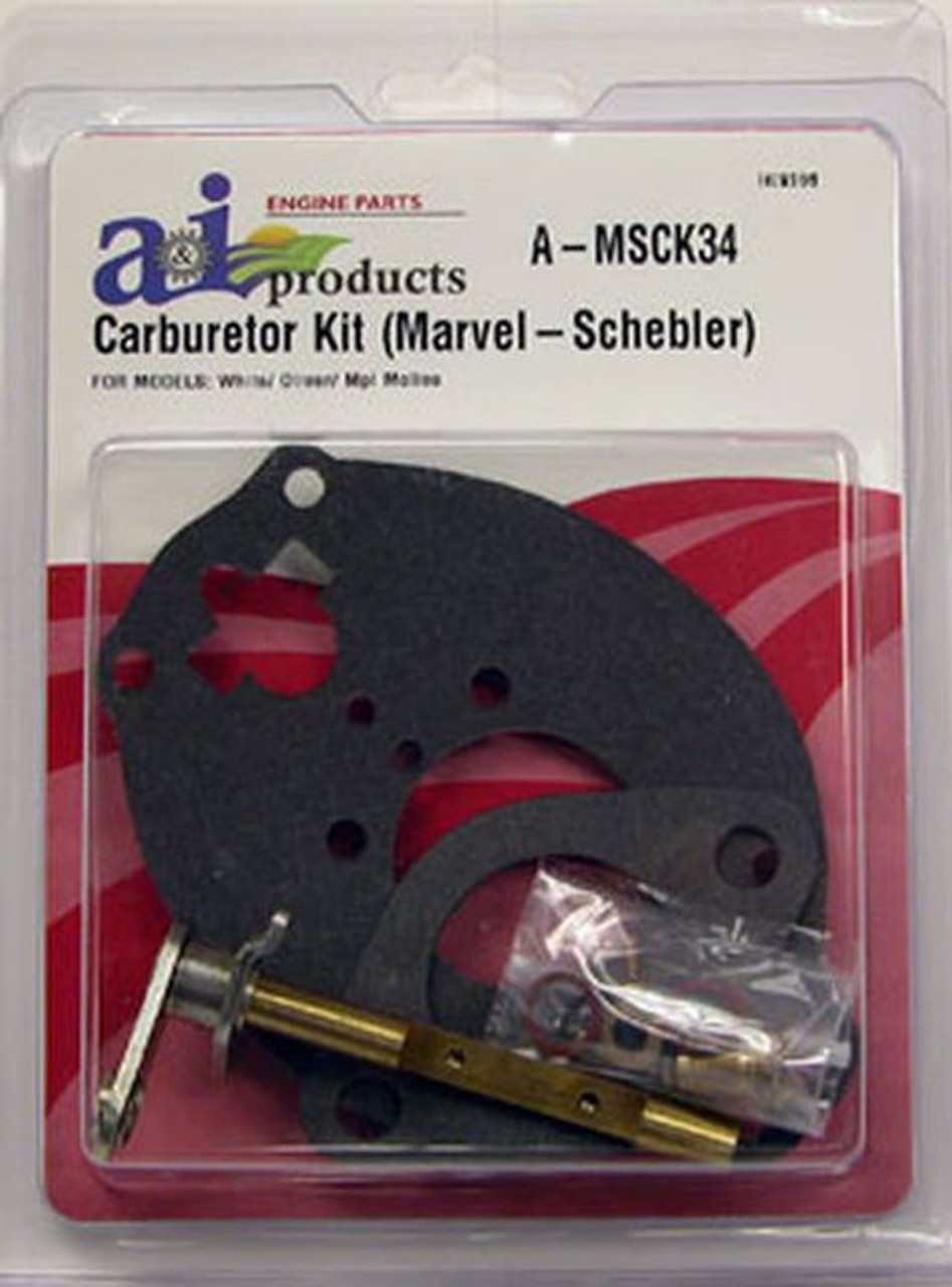 "Complete Carburetor Kit, Basic (Marvel Schebler) ""Viton"" MSCK34"