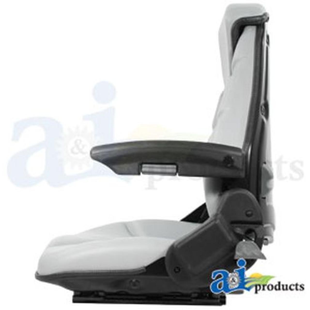 Seat, F20 Series, Slide Track / Armrest / Headrest / Gray Vinyl