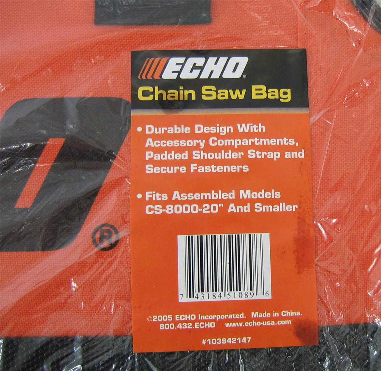 ECHO Chainsaw Carry Bag 103942147 CS370 CS400 CS450 CS500 up to 20 inch