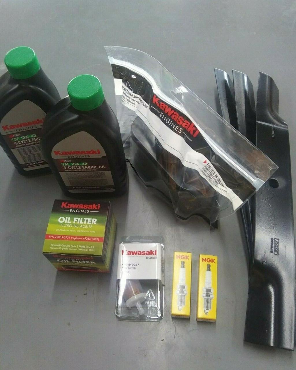 """Hustler Raptor SD SDX Tune-Up Kit (Kawasaki FR) 60"""" Blades"""
