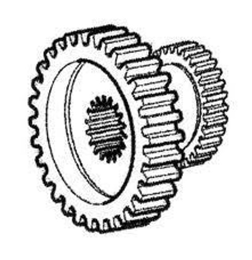 Long & Allis Chalmers Transmission Gear 2nd/3rd TX10527 72089195