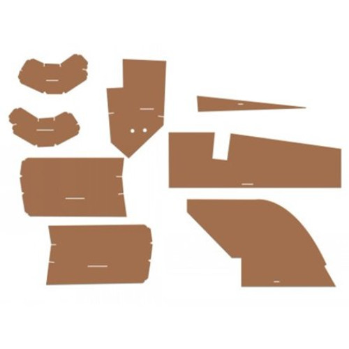 Allis Chalmers Cab Kit Without Headliner Fits 8000 (Palomino Brown) CD8000