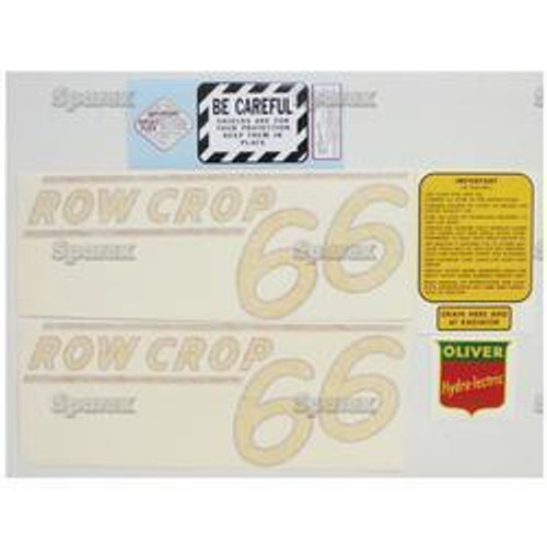New Oliver 60 Rowcrop (51>) (Yellow) Decal Set