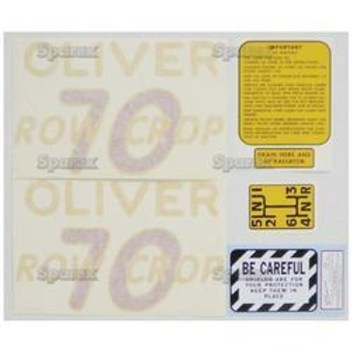 New Oliver 70 Rowcrop Decal Set