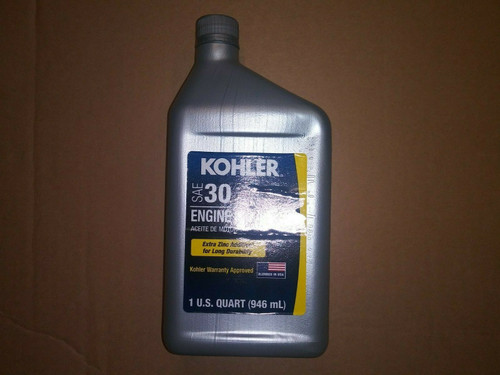 1 Quart OEM Kohler SAE 30 Engine Oil