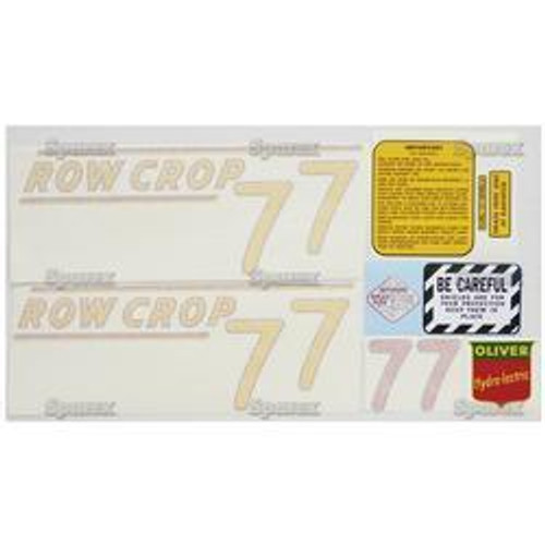 New Oliver 77 Rowcrop (51>) Decal Set