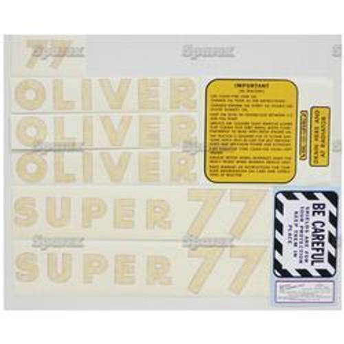 New Oliver Super 77 Decal Set