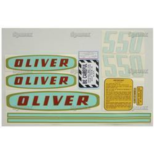 New Oliver 550 Gas Decal Set