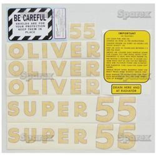 New Oliver Super 55 Gas Decal Set