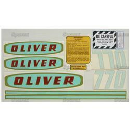 New Oliver 770 Early Gas Decal Set