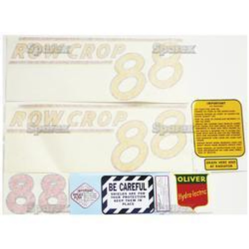 New Oliver 88 Rowcrop (51>) Decal Set