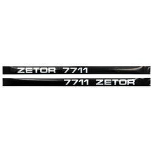New Zetor 7711 Decal Set