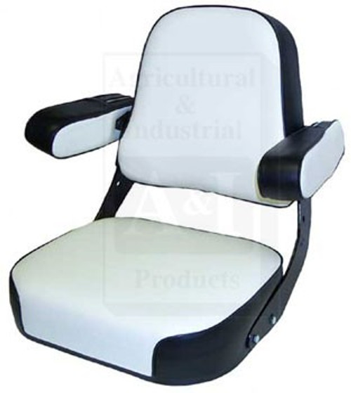 Case/IH Seat Assembly Black/White Fits 544, 656, 666, 686, 706, 756, 766, 806+