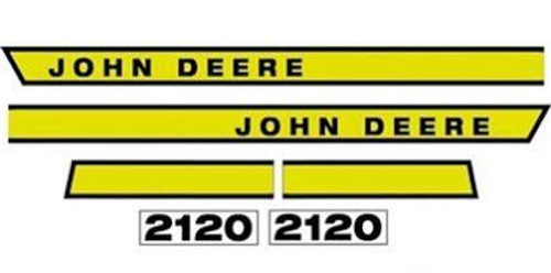 New JD 2120 Hood Decal Set
