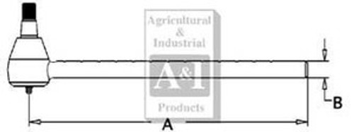 Allis Chalmers Male Tie Rod Rail 70254662