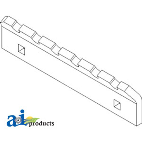JD Combine  Wear Plate Front Beater  Replaces Part Number H201914