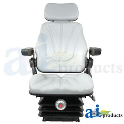 Seat, F10 Series, Mechanical Suspension / Armrest / Headrest / Gray Vinyl