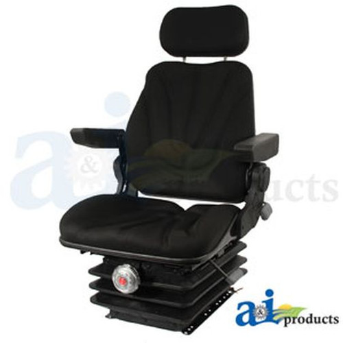 Seat, F10 Series, Mechanical Suspension / Armrest / Headrest / Black Cloth