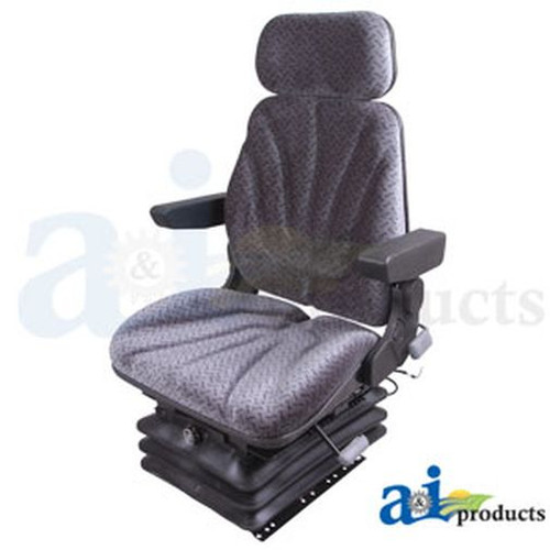 Seat, F10 Series, Air Suspension / Armrest / Headrest / Gray Cloth