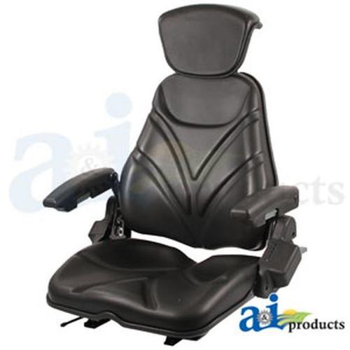 Seat, F20 Series, Slide Track / Armrest / Headrest / Black Vinyl