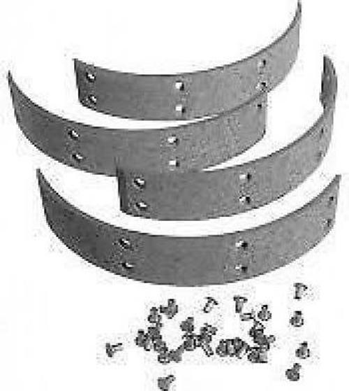 JD Brake Shoe Lining Kit Set of 4 with Rivets AF2866R