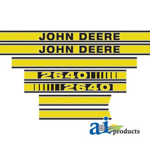 New JD 2640 Hood Decal Set