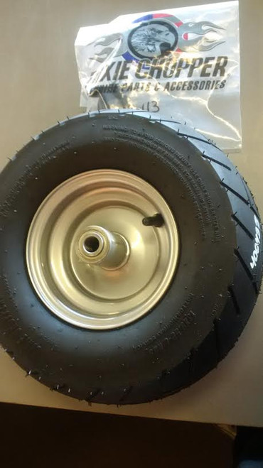 Dixie Chopper OEM Complete Front Wheel With 13x6.5-6 Motorcycle Tire 400438