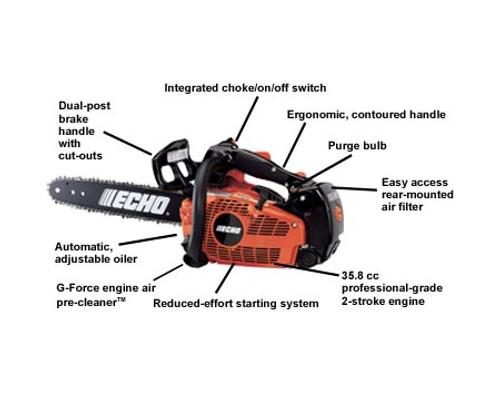 ECHO CS355T-14 35.8cc Top Handle Chain Saw