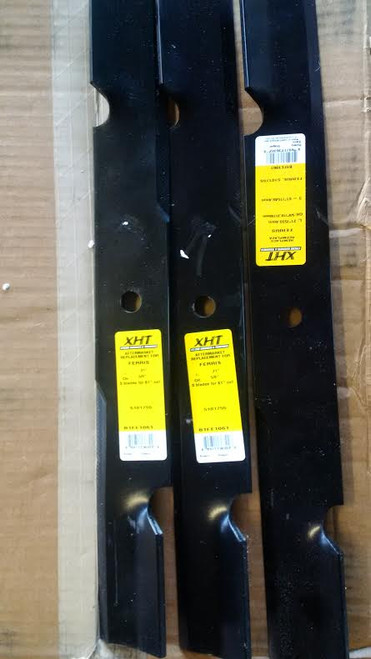 "Ferris Mower Blade 5101755 Set of 3 For 61"" Cut ICD Deck"