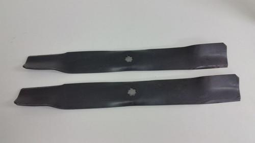 John Deere Mower Blades M154062, AM141034, Set of 2 For D100, D105, D110, D120
