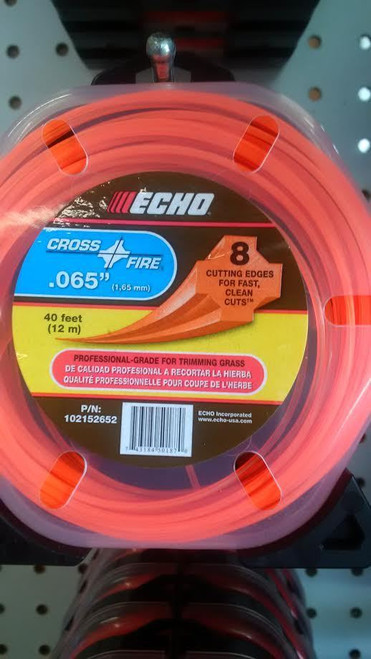 "ECHO 102152652 .065"" Cross Fire Trimmer Line 40' Clamshell"