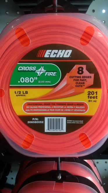 "ECHO 306080052 .080"" Cross Fire Trimmer Line 1/2 LB Donut"