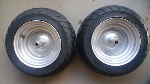2 Dixie Chopper OEM Complete Front Wheels With 15x6.00-8 Motorcycle Tire 400439