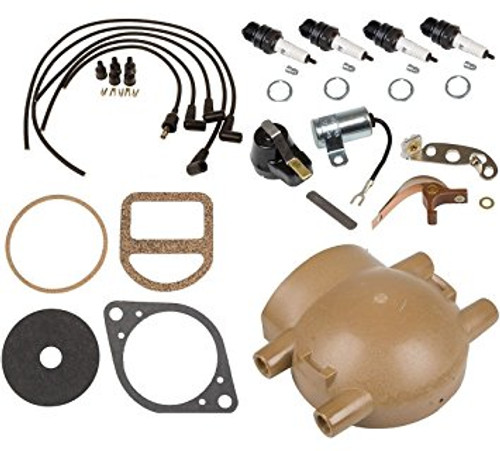 Ford 8N 9N 2N Tune Up Kit, Cap, Wires for Front Mount Distributor